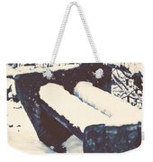 Bench With Snow Weekender Tote Bag