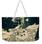 Benches Weekender Tote Bag by Joana Kruse