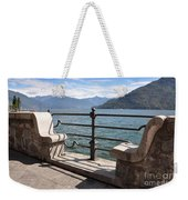 Benches On The Lake Front Weekender Tote Bag