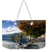 Benches With Shadow Weekender Tote Bag