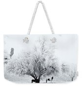 Beneath A Frosty Canopy Weekender Tote Bag