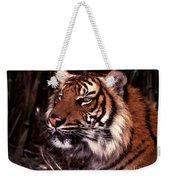 Bengal Tiger Watching Prey Weekender Tote Bag