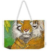 Bengal Tiger With Green Eyes Weekender Tote Bag