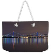 Benjamin Franklin Bridge Weekender Tote Bag