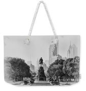 Benjamin Franklin Parkway In Black And White Weekender Tote Bag by Bill Cannon