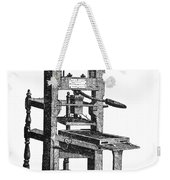 Benjamin Franklins Printing Press Weekender Tote Bag