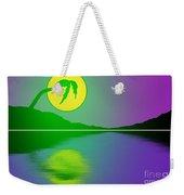 Bent Palm Sunrise Weekender Tote Bag