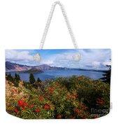 Berries By The Lake Weekender Tote Bag