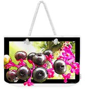 Berry Burst   Poke Berries Weekender Tote Bag