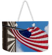 Betsy Ross Flag In Chicago Weekender Tote Bag