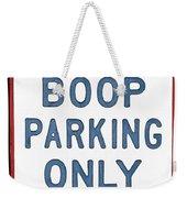 Betty Boop Parking Weekender Tote Bag