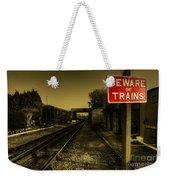 Beware Of Trains Weekender Tote Bag