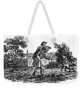 Bewick: Man Carrying Man Weekender Tote Bag by Granger