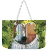 Beyond The Gate - A Scene From Mackinac Island Michigan Weekender Tote Bag