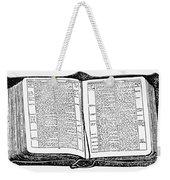 Bible, 19th Century Weekender Tote Bag