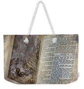 Bible Pages Weekender Tote Bag