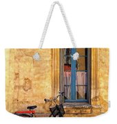 Bicycle And Window In France Weekender Tote Bag