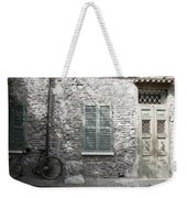 Bicycle Leaning Against A Stone House Weekender Tote Bag