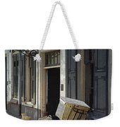 Bicycle On A Street By The Zuider Zee  Weekender Tote Bag