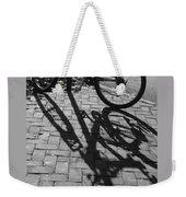 Bicycle Shadows In Black And White Weekender Tote Bag