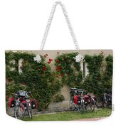 Bicycles Parked By The Wall Weekender Tote Bag