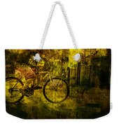 Bicyclist On The Move No. Ol4 Weekender Tote Bag