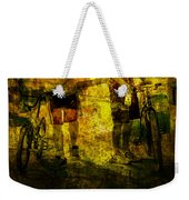 Bicyclists On The Move No. Ol6 Weekender Tote Bag