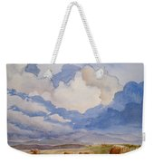 Big Alberta Sky Weekender Tote Bag