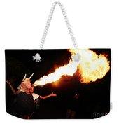 Big Axe Of Fire Weekender Tote Bag