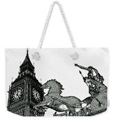 Big Ben And Boudica Charcoal Sketch Effect Image Weekender Tote Bag