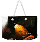 Big Lip Koi Spit Weekender Tote Bag