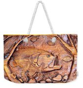 Big Mouth Bass Carving Weekender Tote Bag