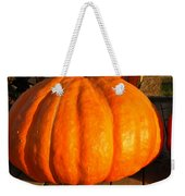 Big Orange Pumpkin Weekender Tote Bag