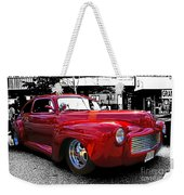 Big Red Abstract Weekender Tote Bag