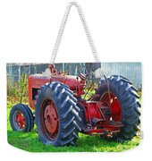 Big Red Rubber Tire Tractor Weekender Tote Bag