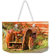 Big Red Tractor Weekender Tote Bag