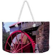 Big Red Wheel Weekender Tote Bag
