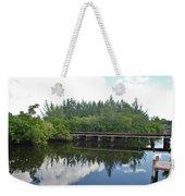 Big Sky And Docks On The River Weekender Tote Bag