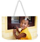 Big Smile At The Window Weekender Tote Bag
