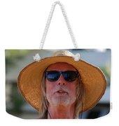 Big Straw Hat Weekender Tote Bag
