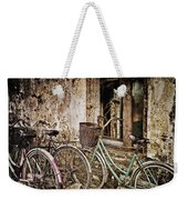 Bikes And A Window Weekender Tote Bag