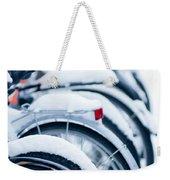 Bikes In Snow Weekender Tote Bag