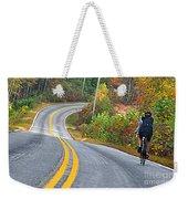 Biking In Autumn Weekender Tote Bag