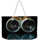 Binoculars With Eyes Looking At You Weekender Tote Bag