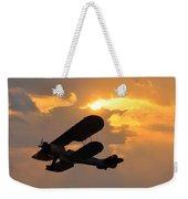 Biplane At Sunset Weekender Tote Bag