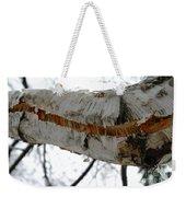Birch Damaged In Ice Storm Weekender Tote Bag