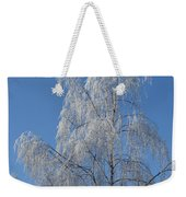 Birch In Frost. Weekender Tote Bag