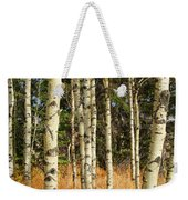 Birch Tree Abstract Weekender Tote Bag