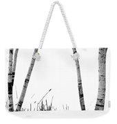 Birch Trees In Snow Weekender Tote Bag