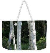 Birches On A Meadow Weekender Tote Bag